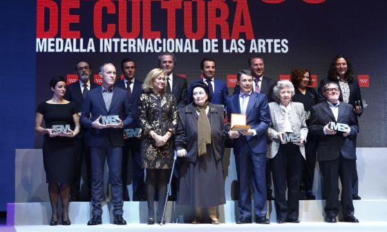 Montserrat Caballé agradece la Medalla de Oro de la Comunidad de Madrid