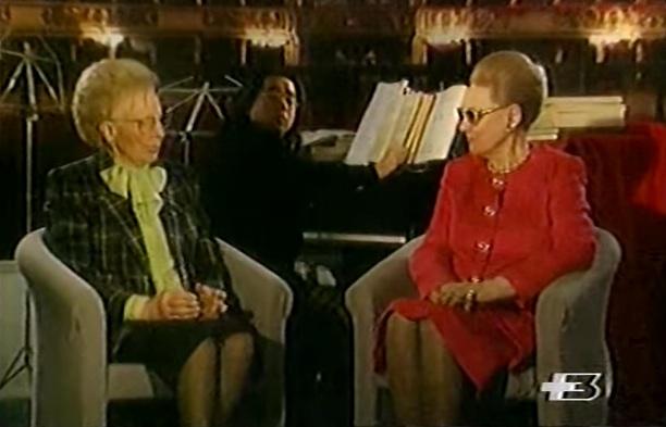 Renata Tebaldi y Magda Olivero dialogan sobre la ópera