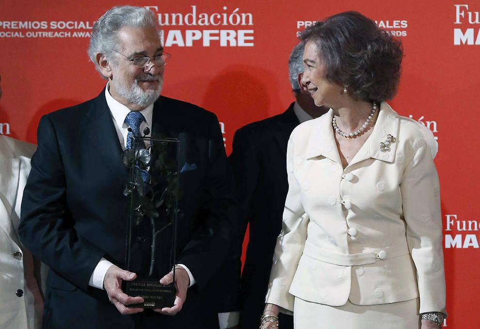 Domingo recoge un premio de la Fundación Mapfre