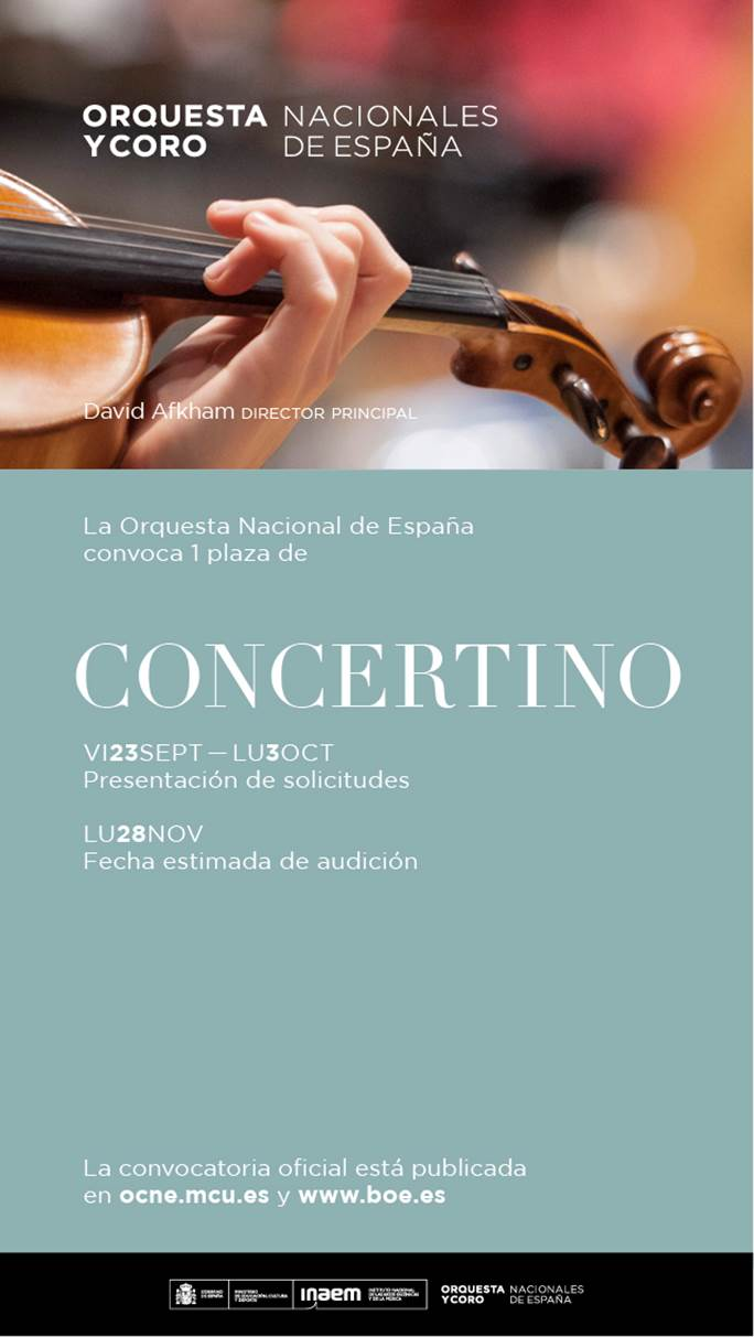Convocatoria de la ONE para concertino