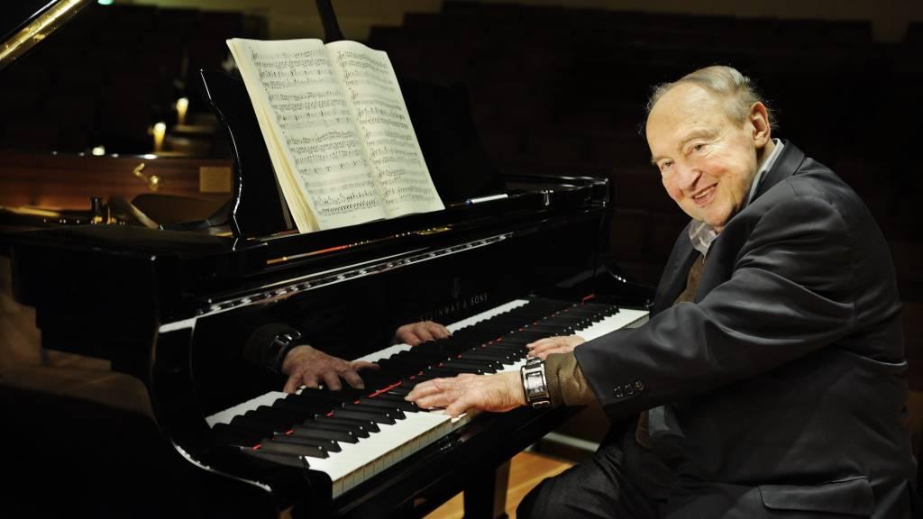 Menahem Pressler junto al Cuarteto Schumann