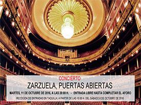 Concierto Teatro de la Zarzuela, puertas abiertas