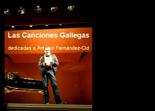 Conferencia-concierto sobre las Canciones Gallegas en Oviedo