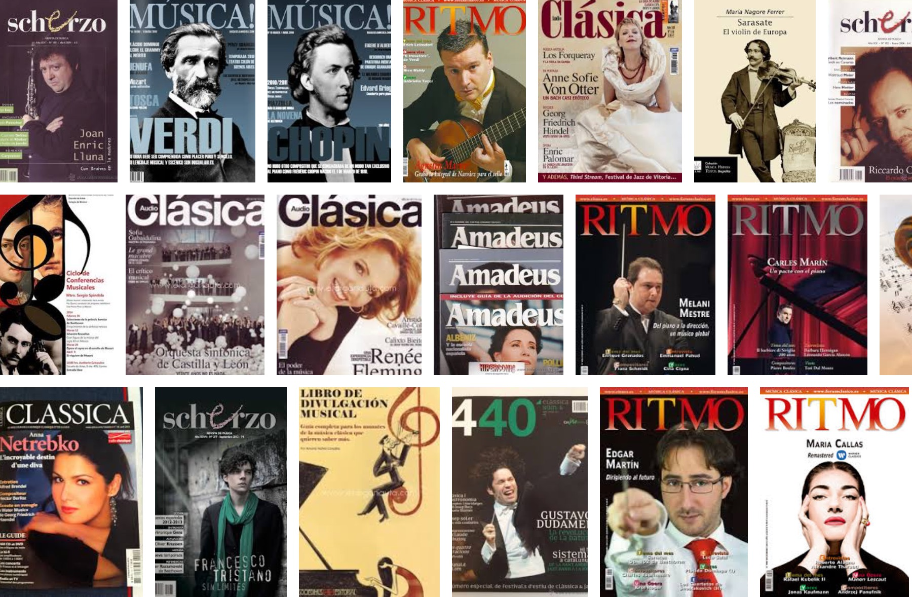 Editoriales de las revistas musicales julio