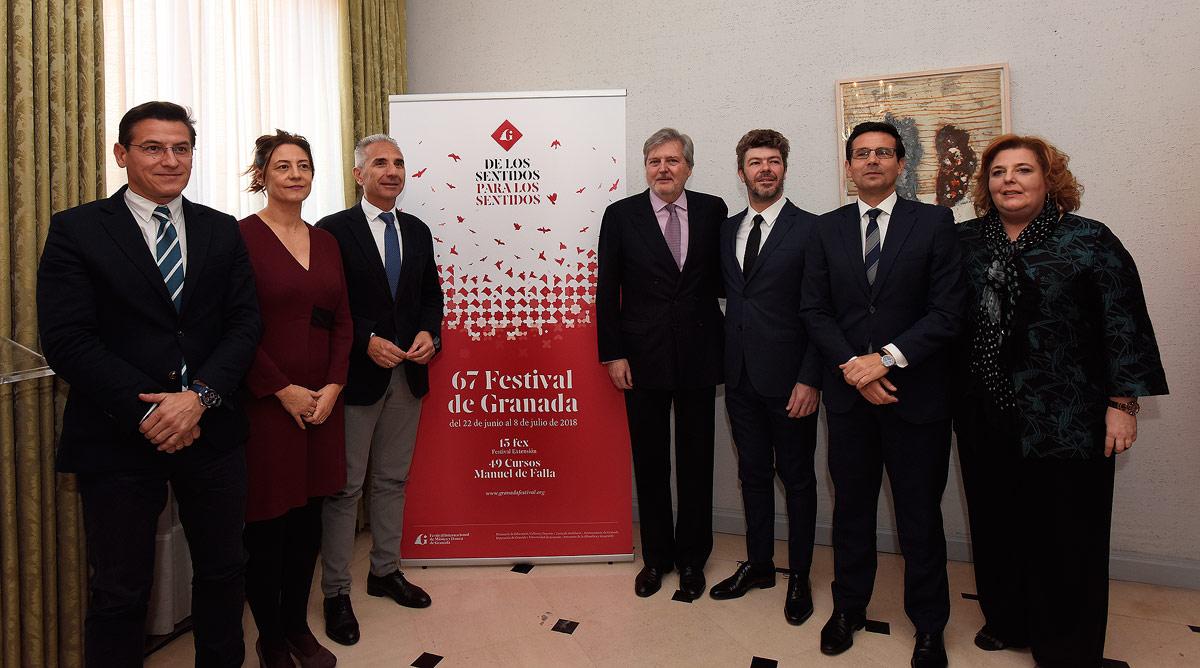 Heras-Casado presenta el 67 Festival de Granada