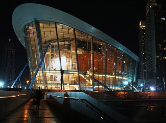 La Ópera de Dubái en escala ascendente