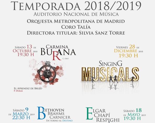 Nueva Temporada de la Orquesta Metropolitana y Coro Talía