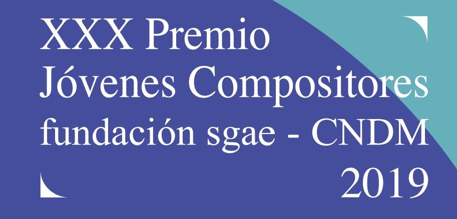 Nueva convocatoria de los XXX Premio Jóvenes Compositores