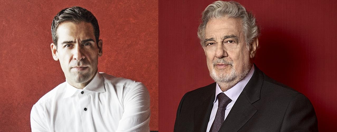 Plácido Domingo e Ismael Jordi en el Festival de Orange
