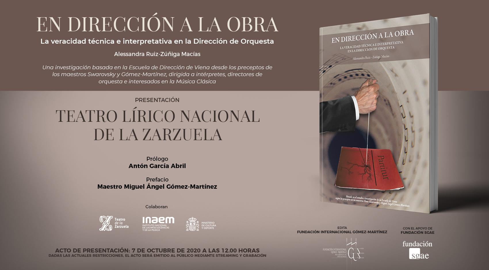 La Fundación Gómez-Martínez presenta el libro 'En dirección a la obra'