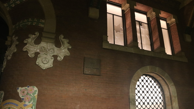 Los disturbios en Barcelona provocan destrozos en el Palau de la Música