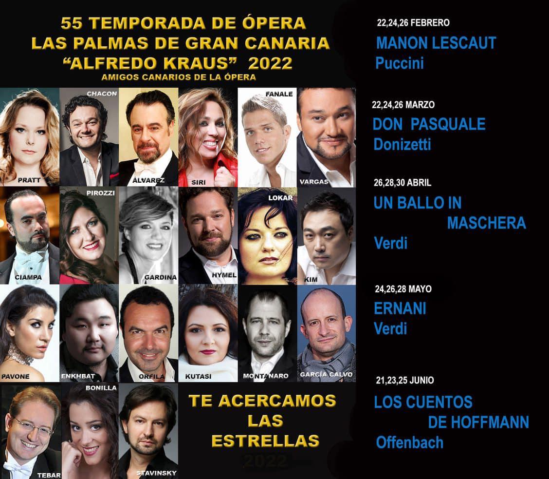 La Ópera de Las Palmas presenta su 55º temporada