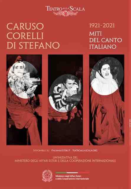 Caruso, Corelli, Di Stefano en una exposición online de la Scala
