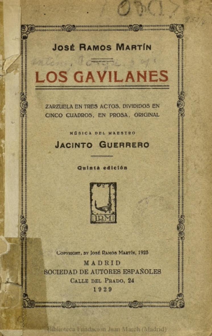 libreto-original-gavilanes
